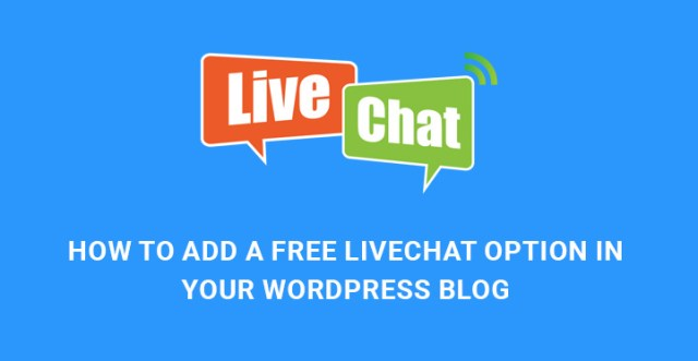 add free live chat WordPress