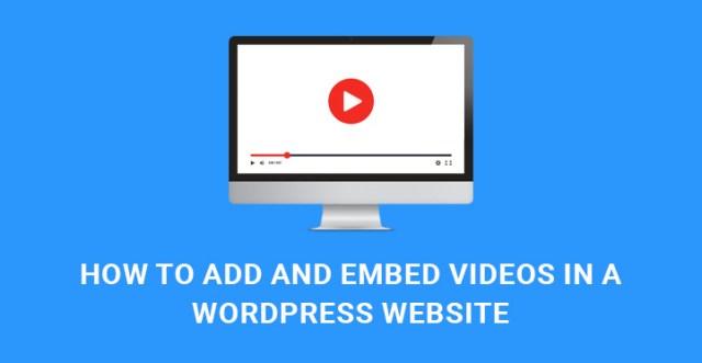 add embed videos WordPress