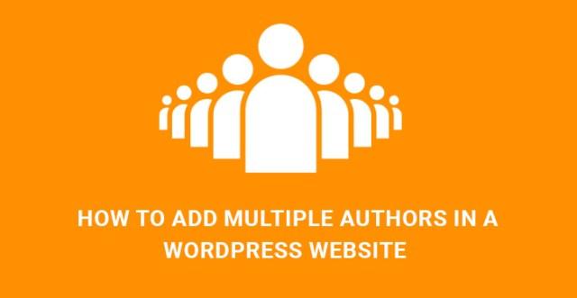 multiple authors WordPress