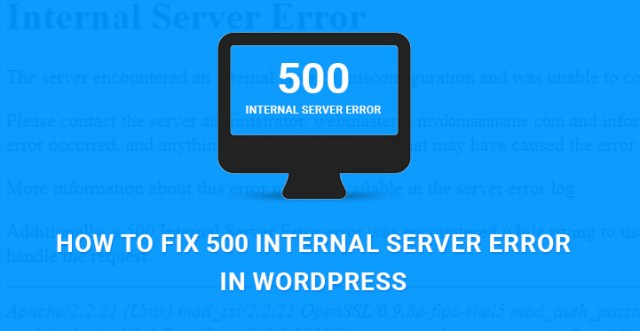 fix 500 internal server error WordPress