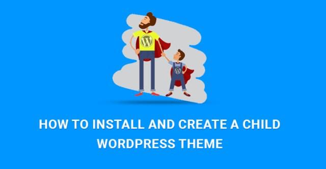create child WordPress theme