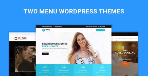 two menu WordPress themes