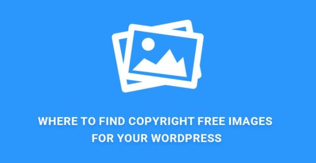 copyright free images WordPress