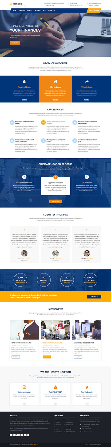 banking WordPress theme