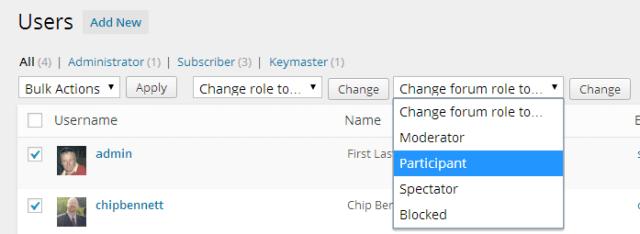 bbpress users
