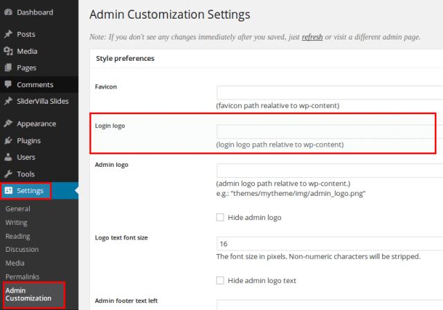 admin customization plugin