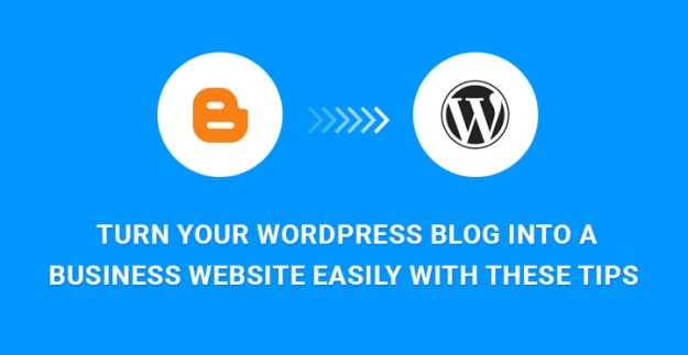 WordPress Blog Into a Business Website