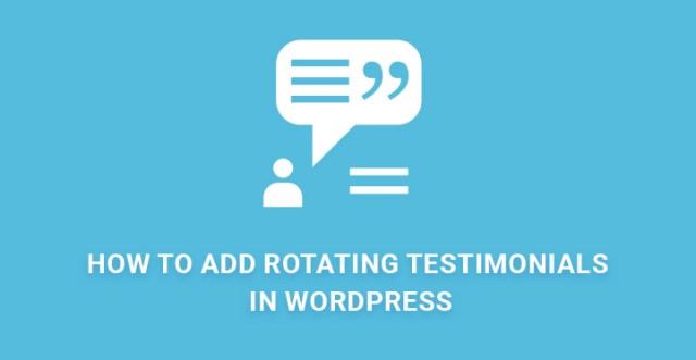 Add Rotating Testimonials