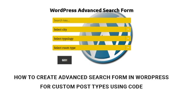 Advanced Search Form In WordPress