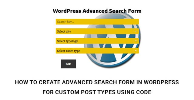 Advanced Search Form In WordPress