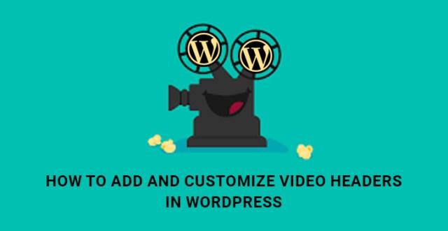 Customize video headers