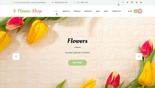 flower shop WordPress theme