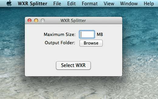 WXR Splitter maximum size
