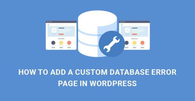 custom database error page