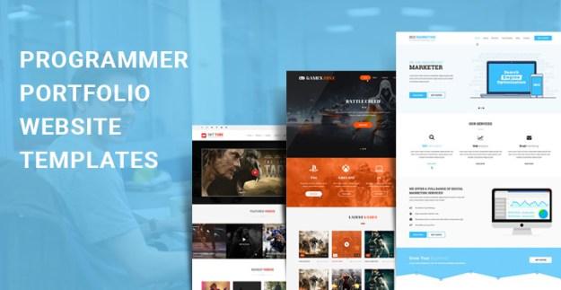 programmer portfolio WordPress themes