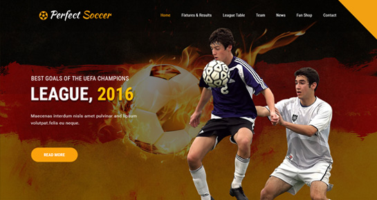soccer WordPress theme