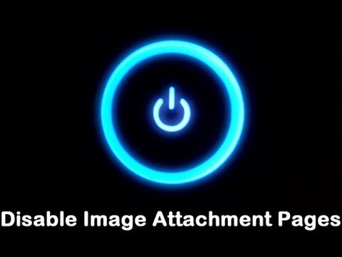 Disable Image Attachment Pages