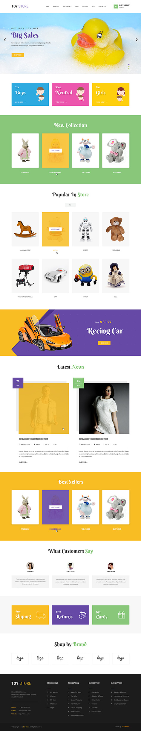 toy store WordPress theme