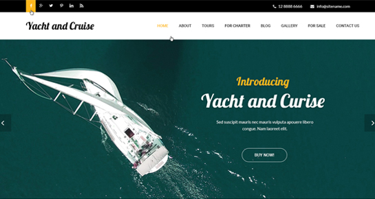 yacht cruise WordPress theme