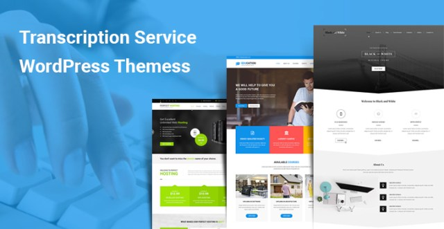 Transcription Service WordPress Themes