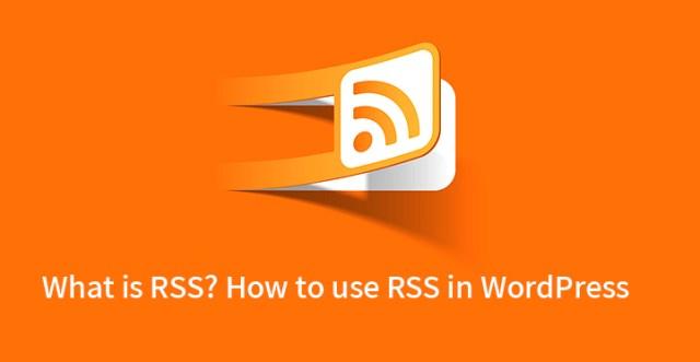 RSS in WordPress