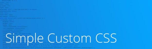 simple custom css