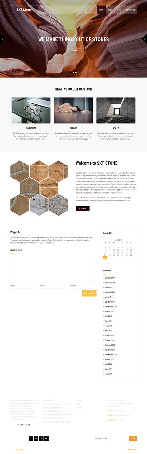 simple WordPress theme free