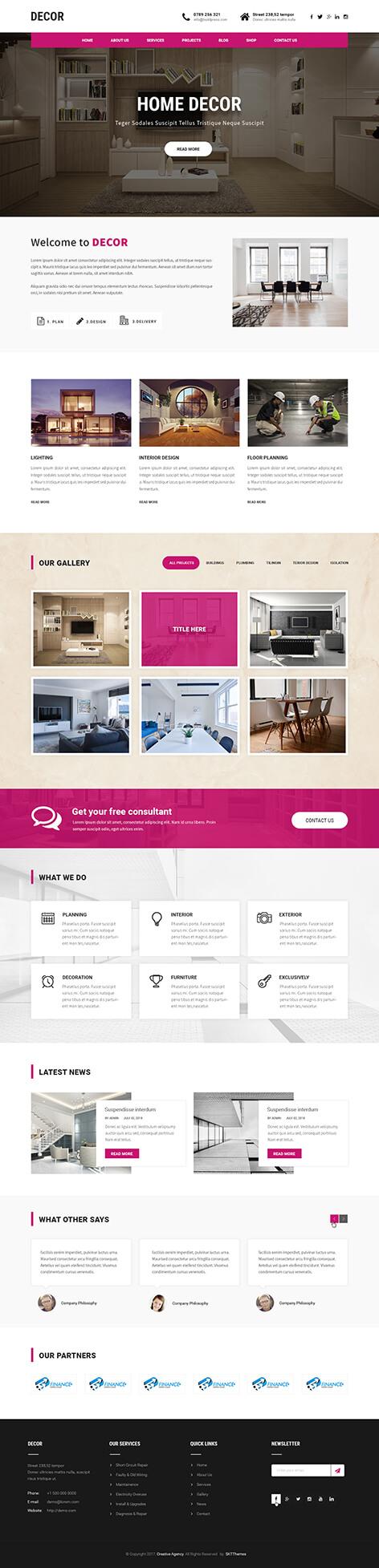 decor WordPress theme