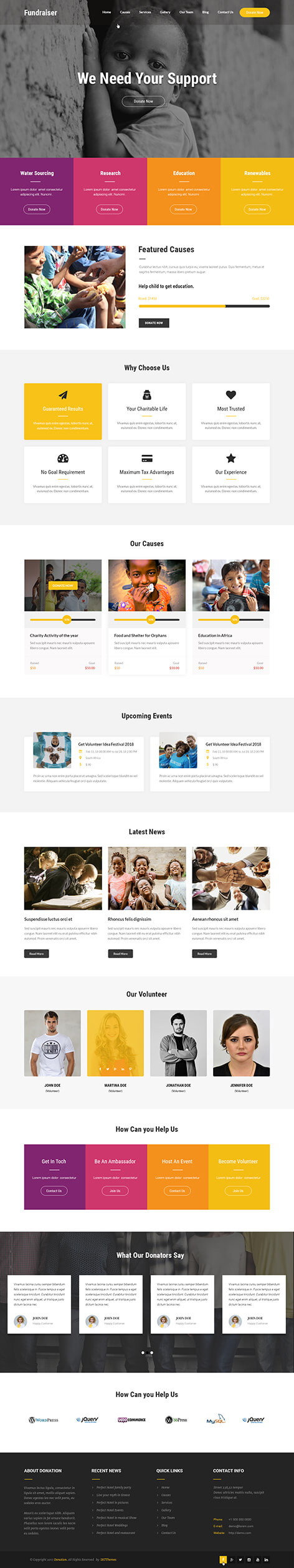 fundraising WordPress theme