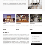 free interior and furniture WordPress theme