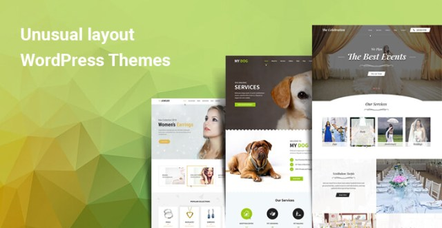 Unusual layout WordPress themes