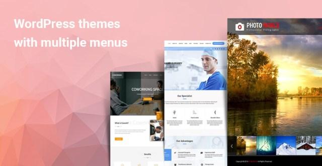 WordPress themes with multiple menus