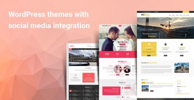 WordPress themes with social media
