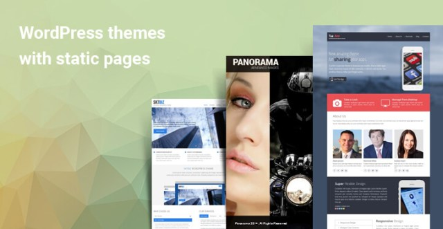 WordPress themes with static pages