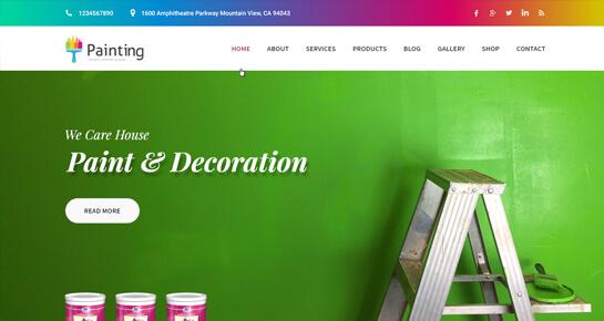 Painting Company WordPress theme