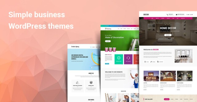 Simple business WordPress themes