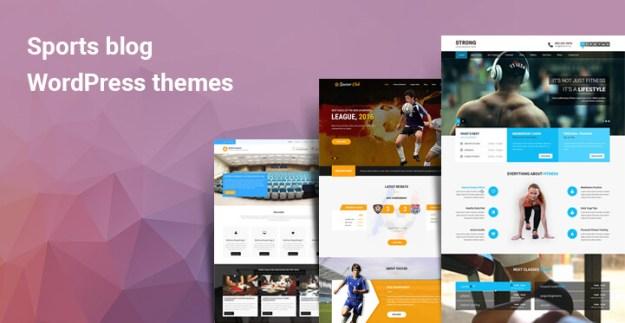 Sports blog WordPress themes