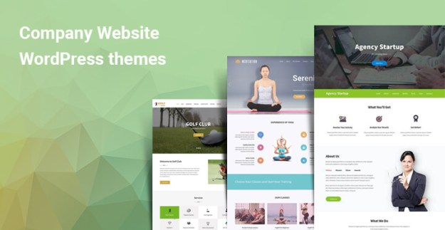 Company website WordPress themes