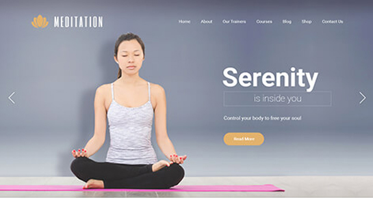 Meditation WordPress theme
