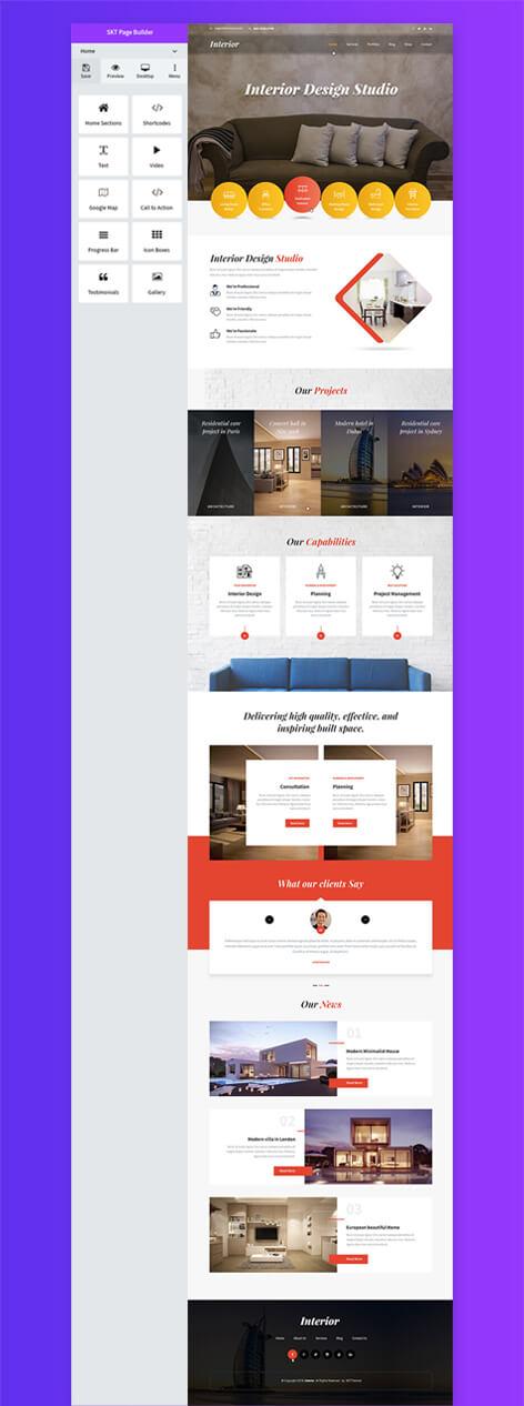WordPress SKT page builder