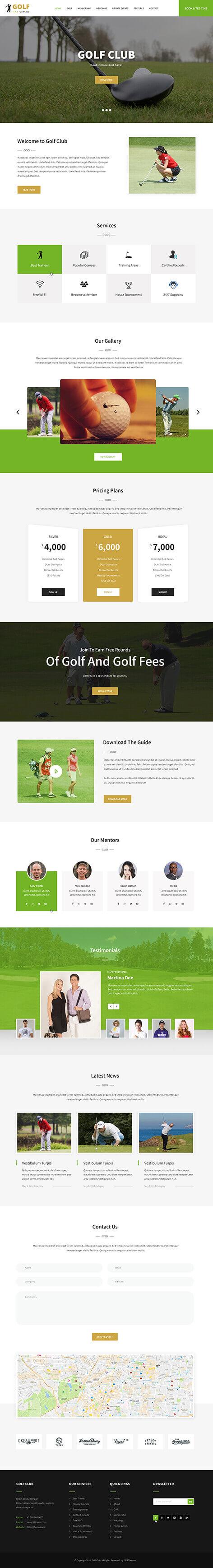 sports team WordPress theme