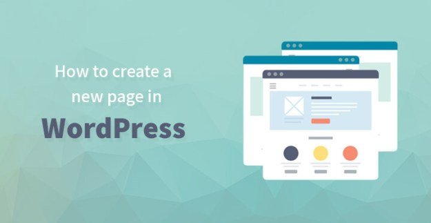 How to create a new page in WordPress