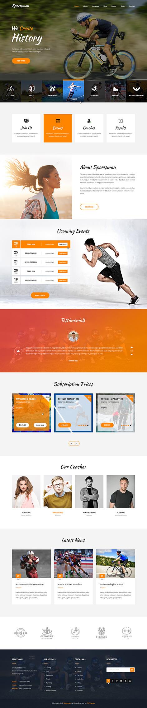 athlete WordPress theme