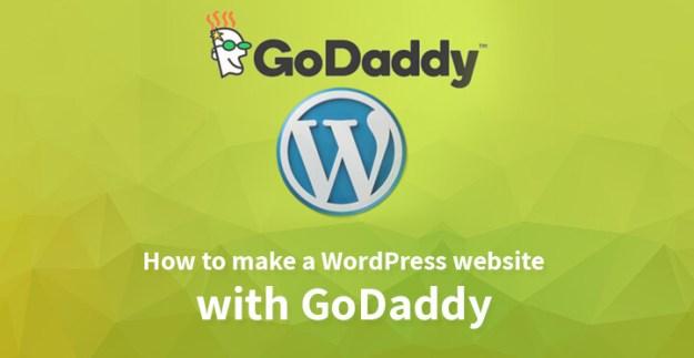 How to make a WordPress website with GoDaddy