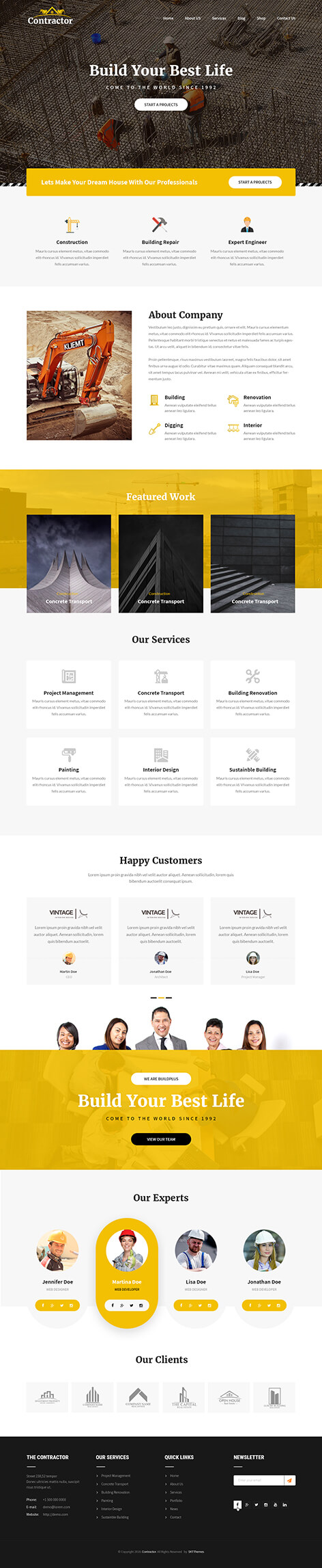 constructor WordPress theme