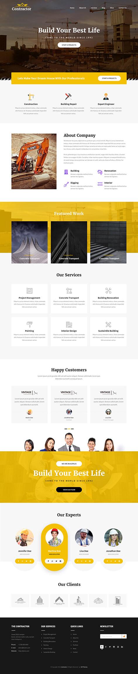 constructor wordpress theme