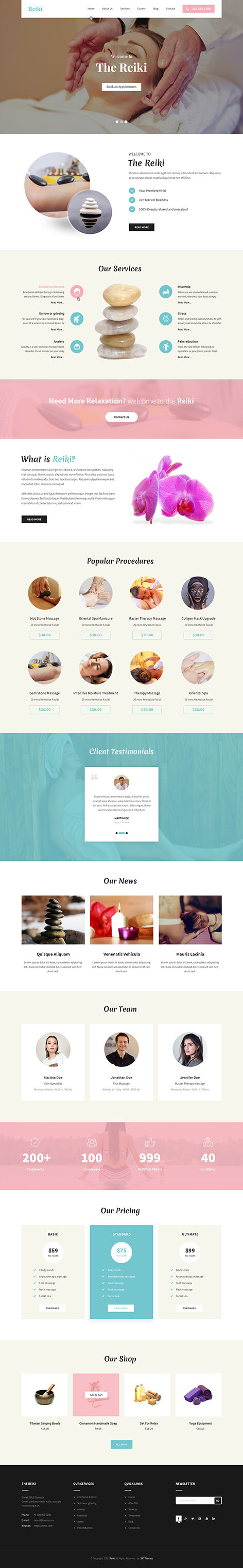 physical therapy wordPress theme