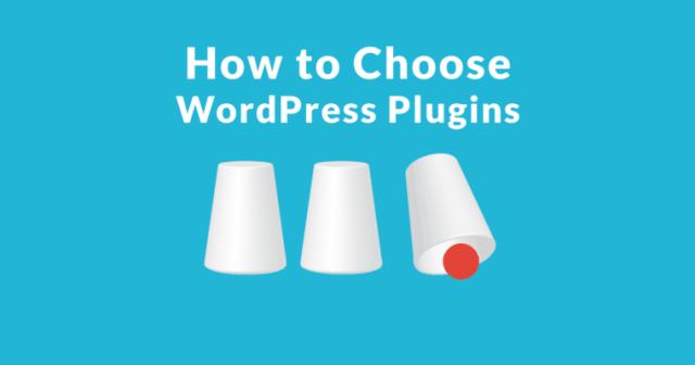 choose plugins