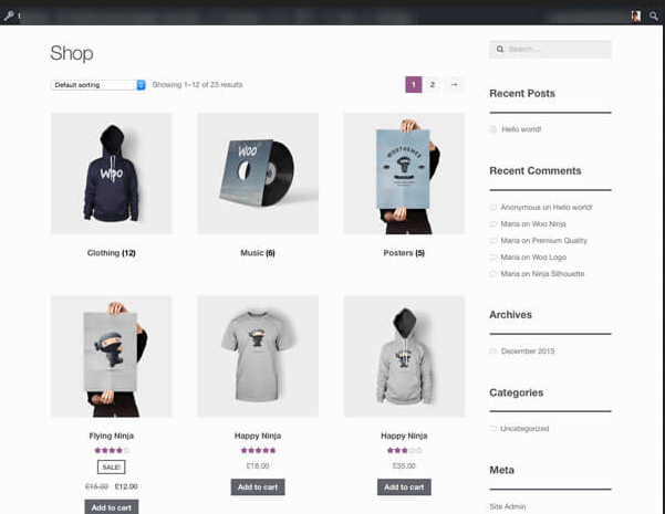 website Detailed Product Page