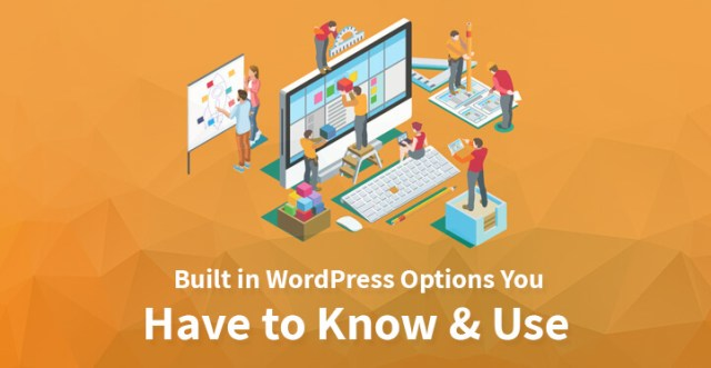 Built in WordPress Options You Have to Know Use